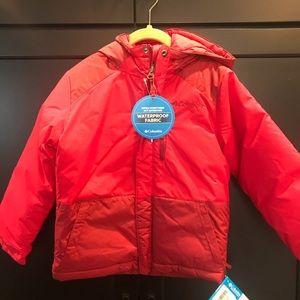 NWT Columbia Kids Winter Coat Red XXS